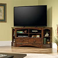 Sauder Harbor View Corner TV Stand in Curado Cherry