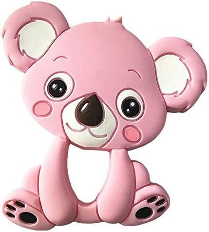 RaiFu ベビーおもちゃ 赤ちゃん かわいい 漫画の動物 おしゃぶり おもちゃ 赤ちゃん 鮮やか 色の教育玩具 ギフト コアラピンク