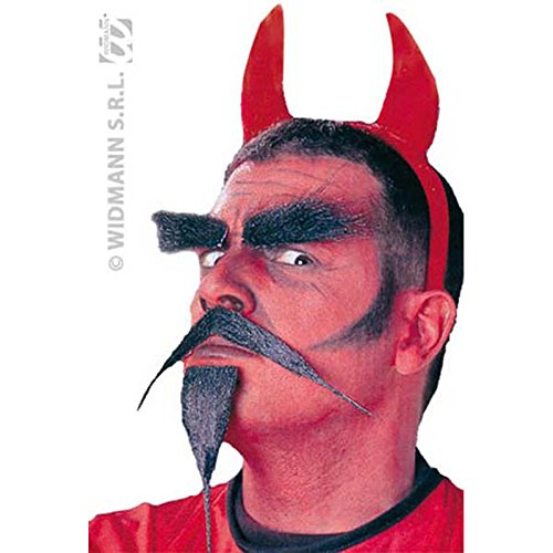 Devil Beard/tash Set Crazy Novelty Fake False Moustaches Beards Sideburns Etc