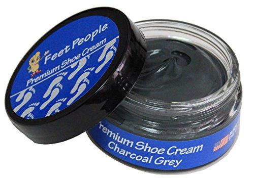 - FeetPeople Premium Shoe Cream 1.5 oz, Charcoal Grey