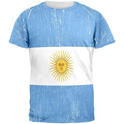World Cup Argentina Sun All Over Adult T-Shirt - - Sun Argentina
