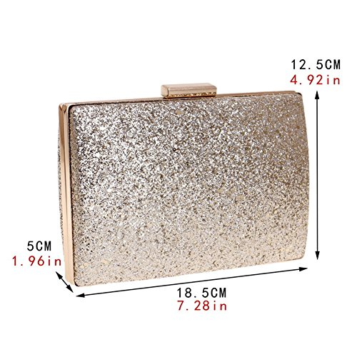 Out Dress Women's Wedding Evening MGH Gold Handbag Party Clutch Glitter IqvtCqdwx