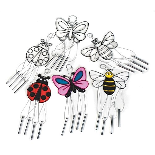Wind Chime Sun Catchers, Bugs (pack of 12)