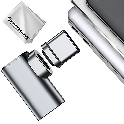 Adattatore Magnetico USB C/Type C, 4.3A Tipo C Adattatore magnetico USB C, cavo in alluminio C Tipo C MagSafe Connettore Socket 4,3 A Velocità massima veloce per MacBook Pro 2017, Samsung Galaxy S8 3 A Velocità massima veloce per MacBook Pro 2017