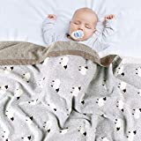 mimixiong Baby Blanket Knit 100% Cotton Toddler