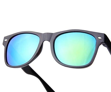 Westeng Gafas de Sol Hombre Mujer Unisex Polarizadas Prevención UV Forma de Rana (Verde)