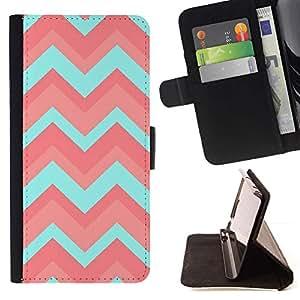 Momo Phone Case / Flip Funda de Cuero Case Cover - Patrón trullo Rosa claro Limpio - LG G4