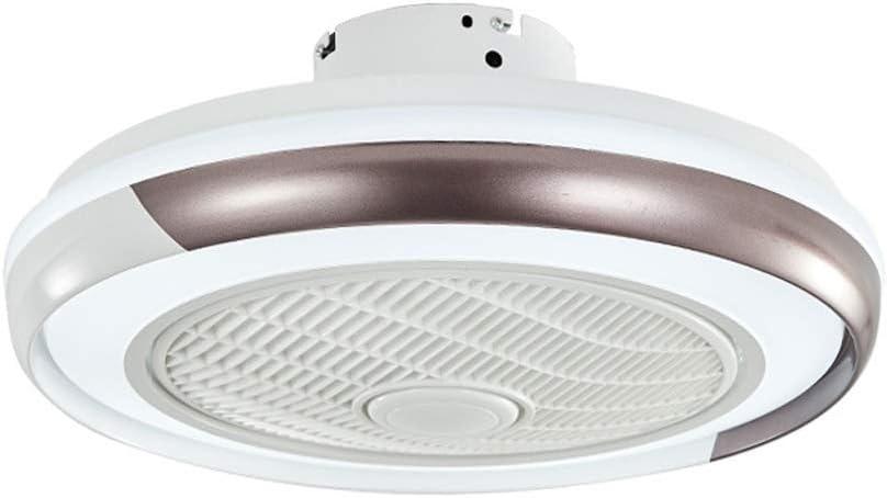 BTBAM Ventilador 50cm luz Creativa Simple LED Ronda lámpara de Techo de la Sala Dormitorio Decoración 36W Colgante del Ventilador Linterna con Control Remoto (Color : Marrón)