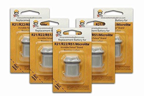 Extreme Dog Fence Invisible Fence174; Brand Compatible Batteries (Extreme Dog Fence8482; Brand) 5 Pack