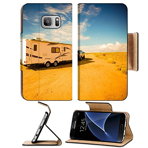 Liili Premium Samsung Galaxy S7 Flip Pu Leather Wallet Case Travel Trailer Adventures Rving in America South West RV in Arizona IMAGE ID 37873529