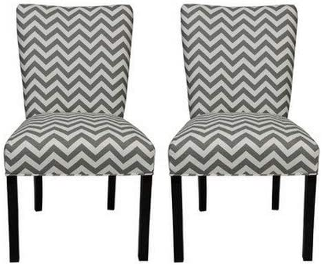 Incredible Sole Designs Julia Collection Dining Chairs A Set Of 2 Upholstered Modern Dining Room Chairs Side Chair Zig Zag Pattern Dailytribune Chair Design For Home Dailytribuneorg