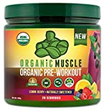USDA Certified Organic Pre-Workout Supplement - Natural Pre Workout & Organic Energy Drink- Vegan, Paleo, Gluten Free, Non-GMO -- Berry Flavor - 160g