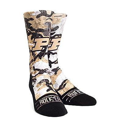 New Rock 'Em Elite, Purdue Boilermakers Camo, Licensed Crew Socks
