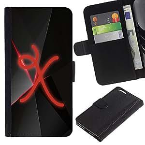 Ihec-Tech / Flip PU Cuero Cover Case para Apple Iphone 6 PLUS 5.5 - X