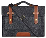 MOSISO Felt Laptop Shoulder Bag Compatible 13-13.3 inch MacBook Pro, MacBook Air, Notebook Computer, Black