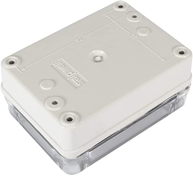 YXQ 130x80x70mm ABS Junction Box w PC Transparent Cover Waterproof Project Enclosure Case Outdoor 5.1 x 3.2 x 2.8 inches