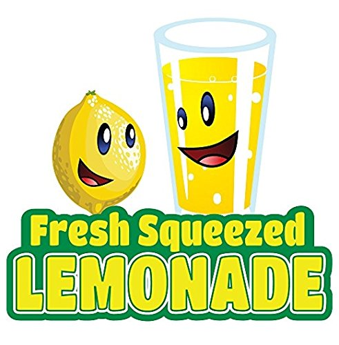 "LEMONADE 12"" Concession Decal Sign Cart Trailer Stand Sticker Equipment - Sticker Graphic - Auto, Wall, Laptop, Cell Sticker"