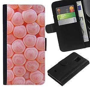 KingStore / Leather Etui en cuir / Samsung Galaxy S5 Mini, SM-G800 / Biología Microscopio Cuerpo Macro