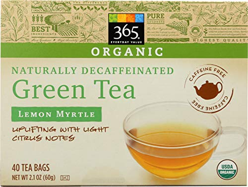 365 Everyday Value, Organic Decaffeinated Green Tea with Lemon Myrtle (40 Tea Bags), 2.3 oz