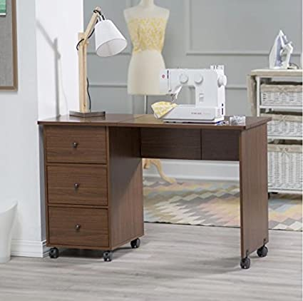 Amazon sewing table for sewing machines craft with storage and sewing table for sewing machines craft with storage and cabinets portable folding wheels clearance walnut watchthetrailerfo