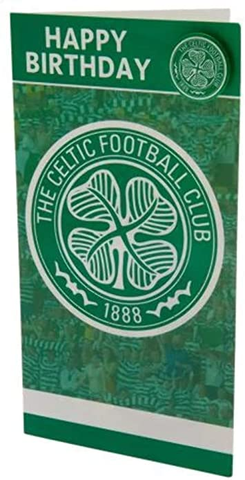 100/% OFFICIAL CELTIC FC HAPPY BIRTHDAY CAR WITH BADGE
