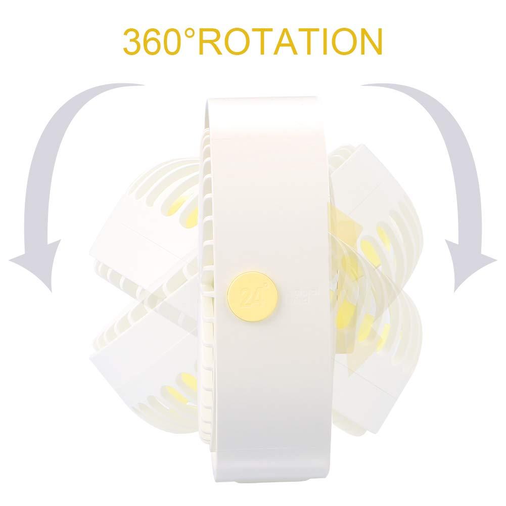 3 Vitesses Rotation /à 360/° pour Maison Ventilateur USB Ultra Silencieux 3 Vitesses Table Bureau Ventilateur /à Clipper Ventilateur USB de Bureau