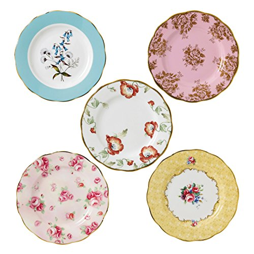 Royal Albert 40017562 100 Years 1950-1990 Plate Set, 8