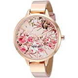 Nine West Women's NW/2176RGPK Rose Gold-Tone and Pink Strap Watch