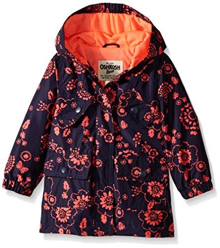 Osh Kosh Baby Girls' Rain Slicker, Floral, 12 Months