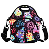 Cute Owl Lunch bag Lunch Box Tote Shoulder Messenger Bag Waterproof Picnic Meal for School Office for Girls Women