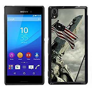 EJOY---Cubierta de la caja de protección la piel dura para el / Sony Xperia M4 Aqua / --Bandera de EE.UU