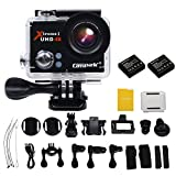 Campark Sports Camera,4K 25fps,Full HD 1080P,WiFi,Helmet Waterproof Diving Camcorder Action Camera with 2pcs Batteries Action Cameras CAMPARK