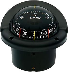 """Compass, Flush Mount, 3.75"""" Combi, Black"""