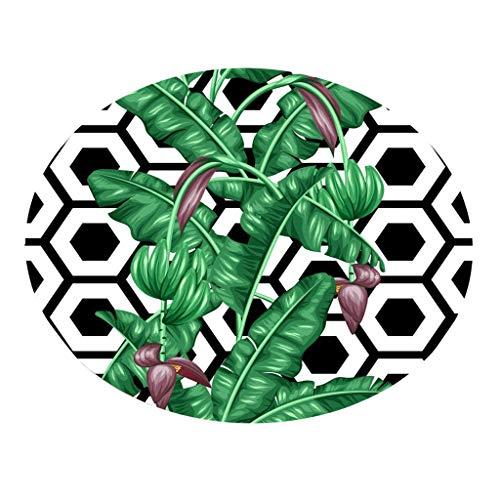 LUXISDE Botany Elements Blanket Round Bathroom Carpet 55cm