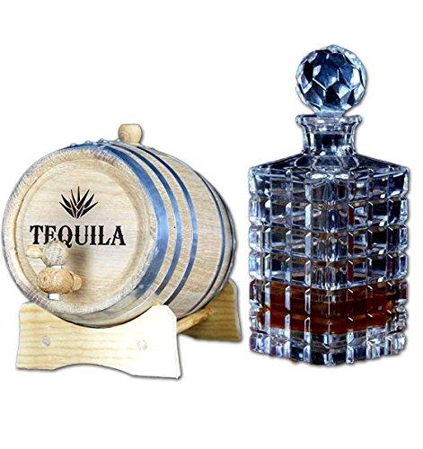 Engraved Tequila Barrel (B103) (1 Liter)