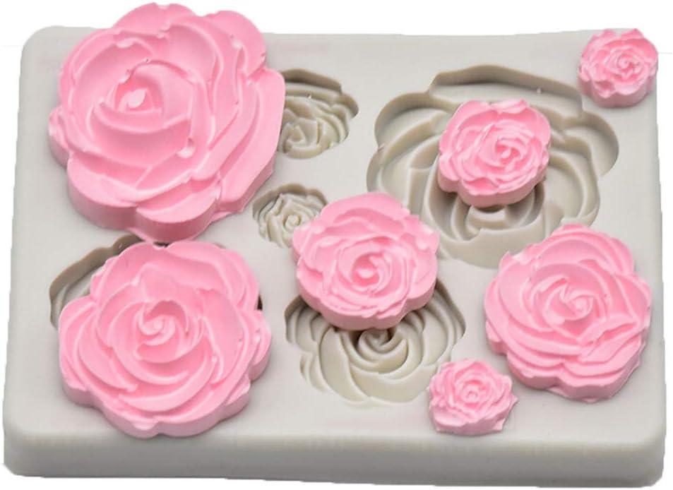 크레이지피그 케이크 금형 로즈 플라워 퐁당 사탕 금형 초콜릿 결혼식 및 생일 케이크 장식용 실리콘 멜트 캔디 몰드