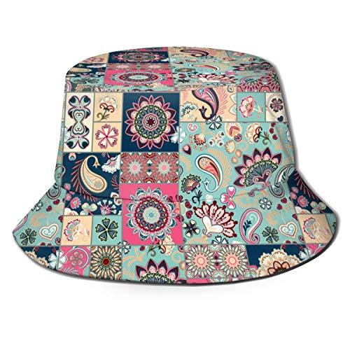 XNLHQH IJ Pink Flamingo Pattern Mens Trends Bucket Hat