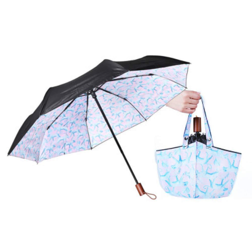 O  YZMBYUSAN Parapluie Résistant Au Vent Trois Pliant Sac à Main Parapluie Pluie Femmes Auto De Grand Coupe-Vent Parapluies Hommes Cadre Coupe-Vent