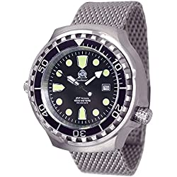 Tauchmeister men`s diver watch with metall band - sapphire glass T0038MIL