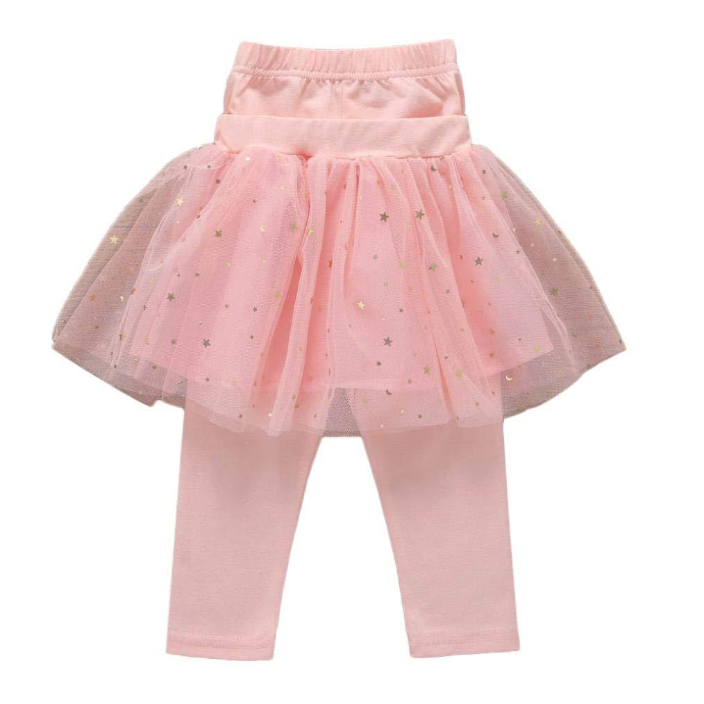 Kinlene Infant delle neonate Culottes Leggings garza al ginocchio Pantaloni Bowknot Tutu Gonne