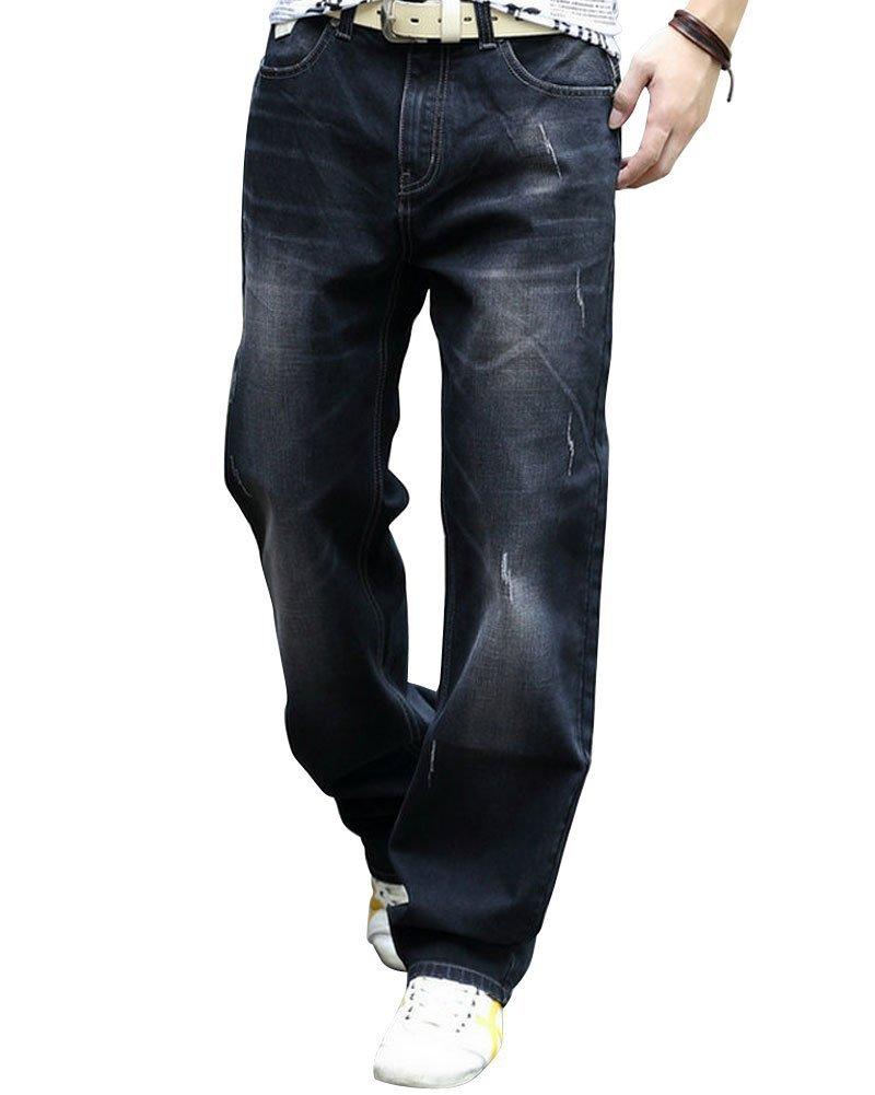 Men's Premium Select Relaxed-Fit Straight-Leg Jean Light Black35
