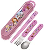 Chopsticks spoon fork trio set Princess Sofia Disney TAC2