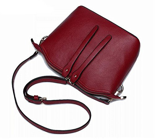 Shoulder Genuine Crossbody Fashion Bags Crossbody Elegant Lady Packet Shell Leisure Pouch One Cowhide Noble Bag Shoulder E Leather JPFCAK Temperament Bag Ms Bags qtRnHwvx