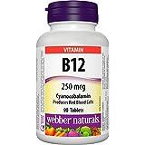 Webber Naturals Vitamin B12 Cyanocobalamin Tablet, 250mcg