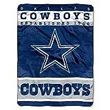 "The Northwest Company Officially Licensed NFL Dallas Cowboys 12th Man Plush Raschel Throw Blanket, 60"" x 80"""