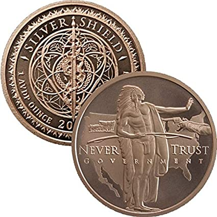 JAMES MONROE  1 oz Copper Round  MINI MINTAGE  #75  Silver Shield  2018