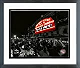 """Wrigley Field Chicago Cubs 2016 World Series Game 7 Spotlight Photo (Size: 12.5"""" x 15.5"""") Framed"""