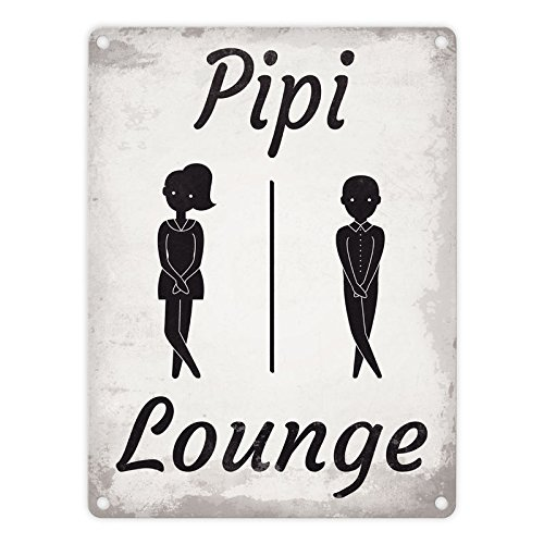 Pipi Lounge Cartel de chapa para aseos para inodoro ...