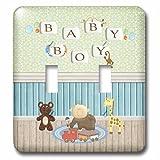 3dRose lsp_192614_2 bebé niño en una habitación con juguetes, de cuentas bebé niño palabras sobre la pared doble interruptor de palanca