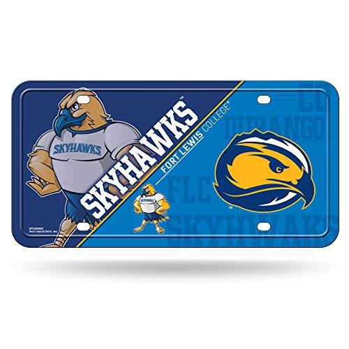 Lewis Metal - NCAA Fort Lewis Skyhawks Metal License Plate Tag